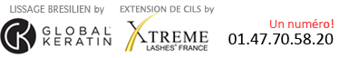 lissage brésilien global keratine, extension de cils xtreme lashes